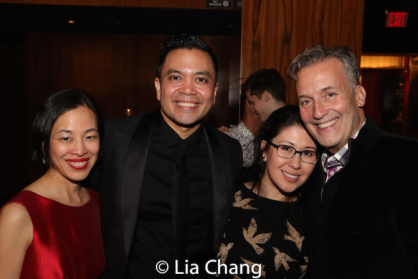 Lia Chang, Jose Llana, Ruthie Ann Miles, Frank Conway, Associate Director of Development, Broadway Cares/Equity Fights AIDS