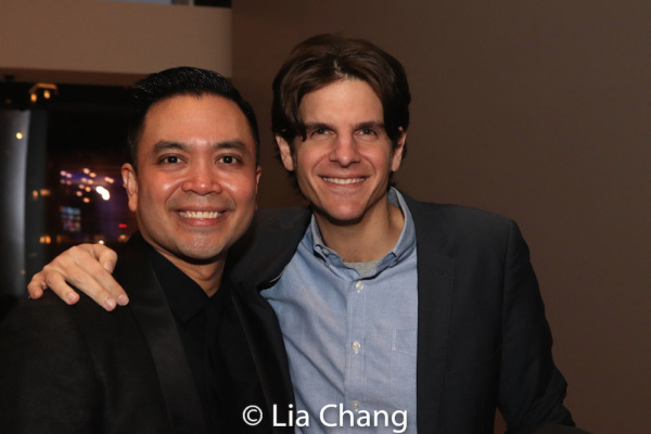 Jose Llana and his HERE LIES LOVE director Alex Timbers
