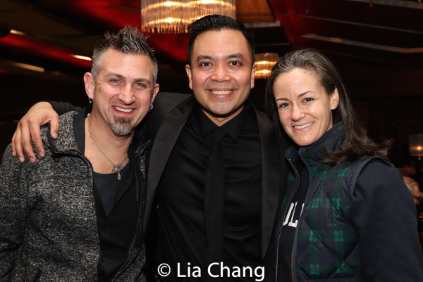 Orchestrator John Clancy, Jose Llana and his music director Kimberly Grigsby
