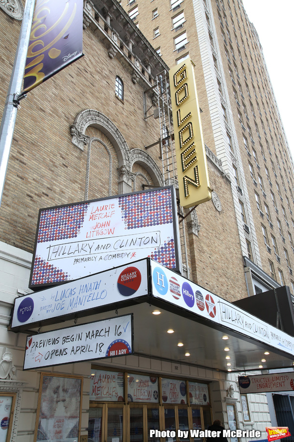 Up On The Marquee: HILLARY AND CLINTON on Broadway!