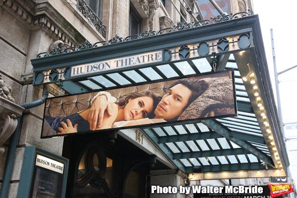 """""""Burn/This"""" starring Adam Driver and Keri Russell Theatre Marquee at the Hudson Theatre on February 8, 2019 in New York City."""