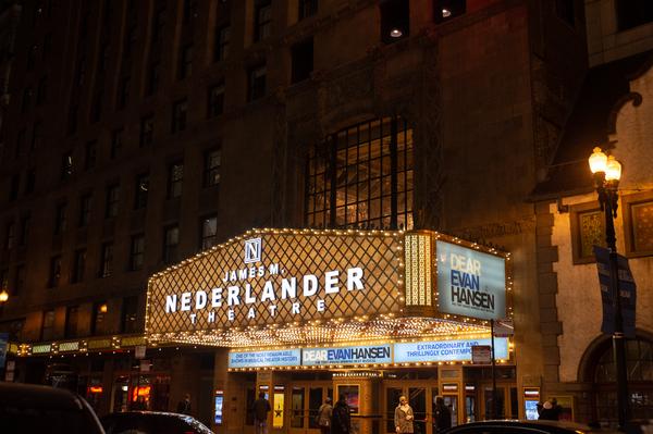 Photo Flash: Broadway In Chicago's James M. Nederlander Theatre Lights Up Marquee
