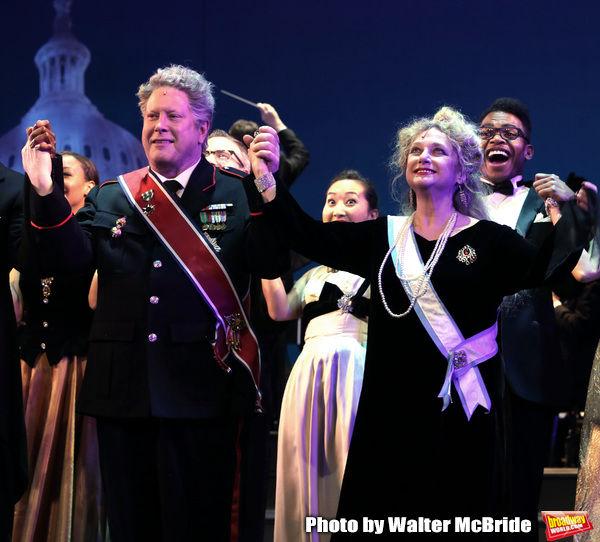 Darrell Hammond and Carol Kane during the Curtain Call for the closing Night performance of  Encores! ''Call Me Madam'' at City Center on February 10, 2019 in New York City.