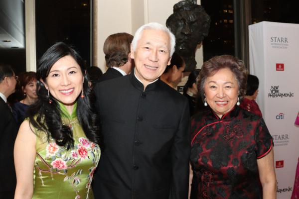 Gala Co-Chairs Agnes Hsu-Tang, Oscar Tang and Shirley Young