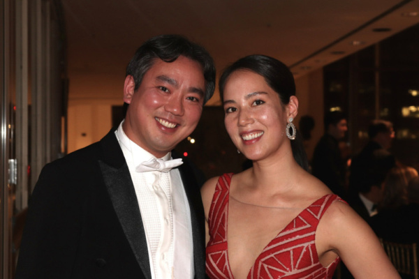 New York Philharmonic concertmaster Frank Huang and his wife Sarah Ludwig Photo