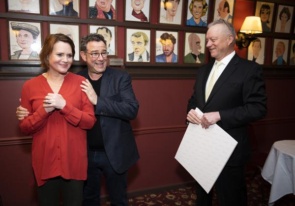 Jennifer Laura Thompson, Michael Greif and Max Klimavicius