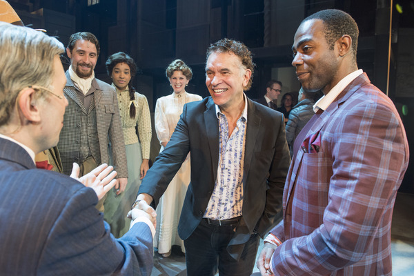 Clifton Duncan, Brian Stokes Mitchell. and cast members of RAGTIME