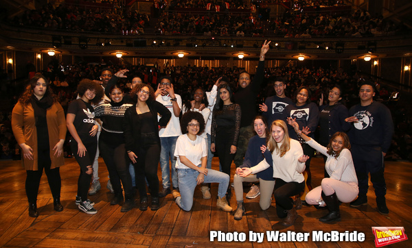 Sean Green Jr. with student performers  Photo