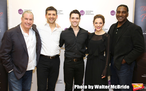 Gabriel Barre, Tony Yazbeck, Corey Cott, Laura Osnes and Norm Lewis Photo