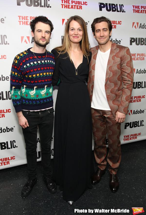 Tom Sturridge, Carrie Cracknell and Jake Gyllenhaal