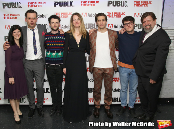 Mandy Hackett, Simon Stephens, Tom Sturridge, Carrie Cracknell, Jake Gyllenhaal, Nick Payne and Oskar Eustis