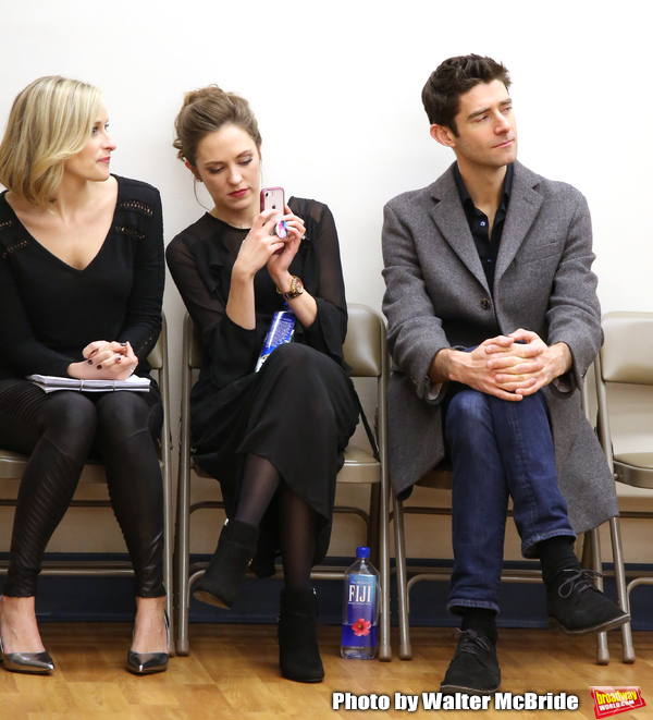 Dana Costello, Laura Osnes and Drew Gehling