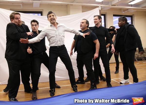John Treacy Egan, Corey Cott, Tony Yazbeck,  Eliseo Roman, Chris Dwan and Alex Newell Photo