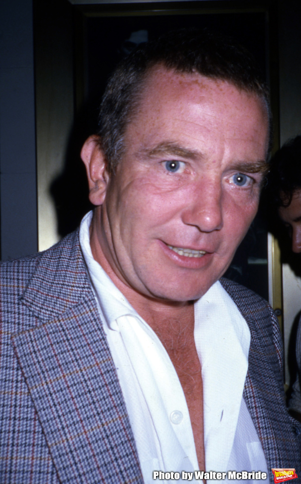 Albert Finney attend a Broadway show on May 1, 1983 in New York City. Photo