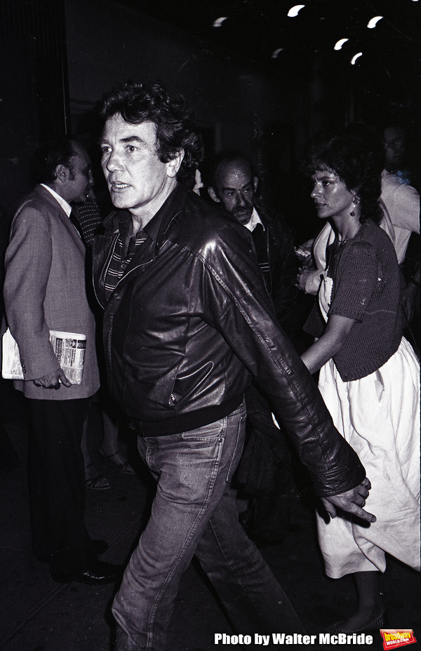 Albert Finney and Janet Susman attends a Broadway Show on September 30, 1981 in New York City.