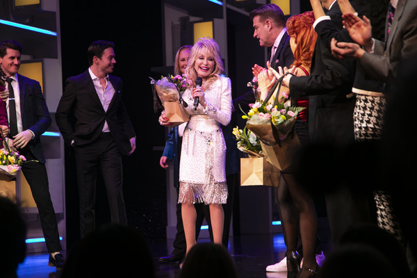 Patricia Resnick (Author) and Dolly Parton (Music/Lyrics) during the curtain call