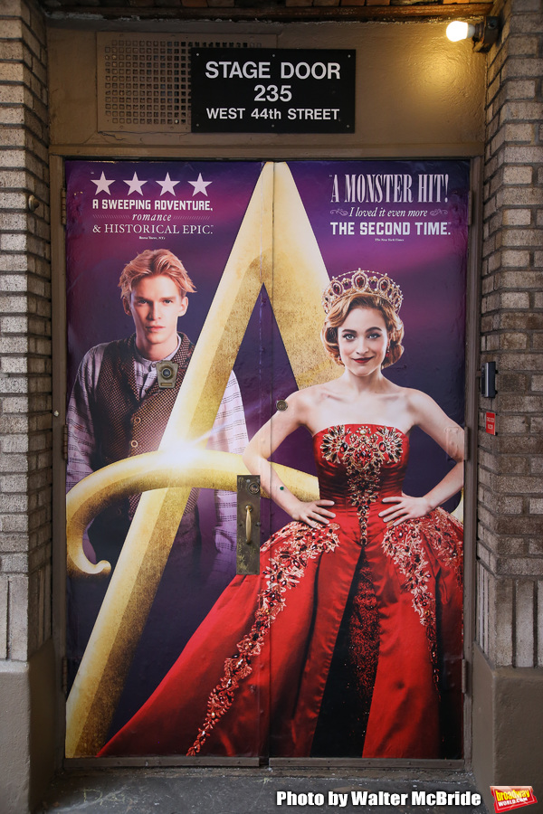 "Theatre Marqee for ""Anastasia"" starring Christy Altomare and Cody Simpson at the Broadhurst Theatre on February 18, 2019 in New York City."