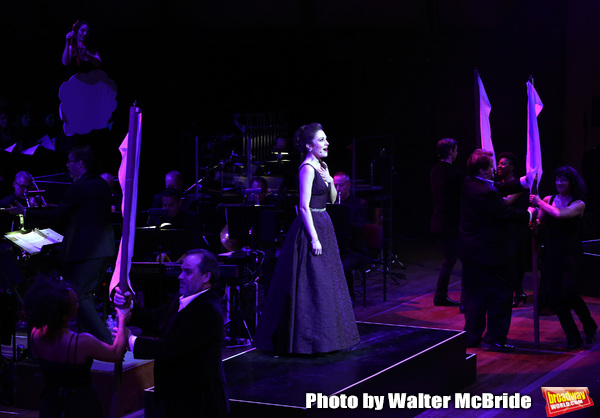 Laura Osnes with cast