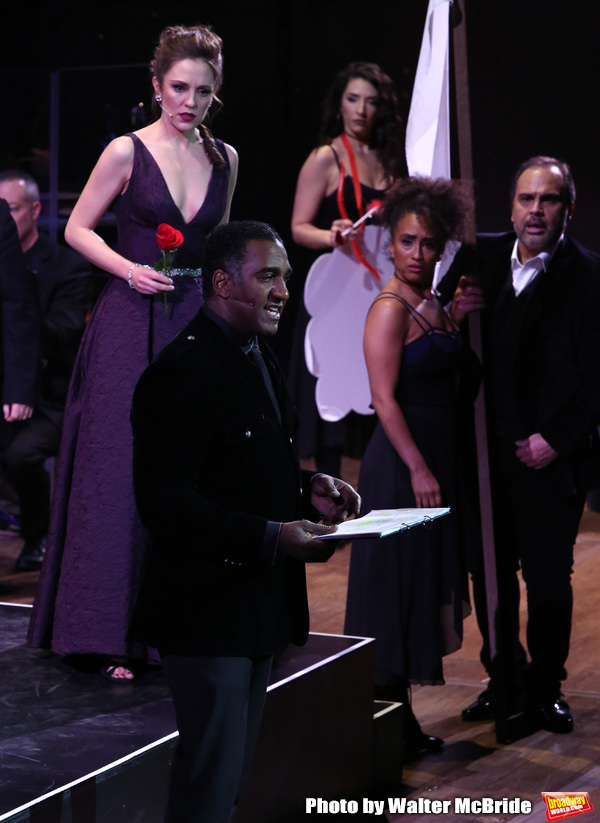 Laura Osnes and Norm Lewis with cast