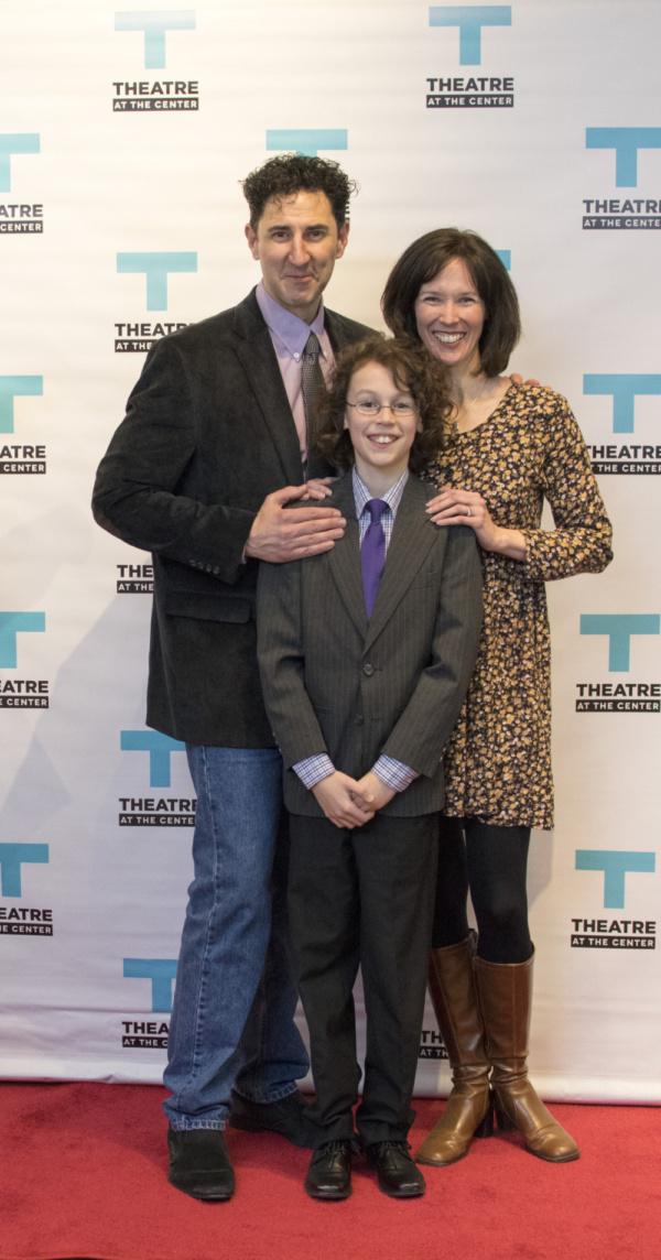 Sean Fortunato and wife and TATC Artistic Director Linda Fortunato with their son Asher
