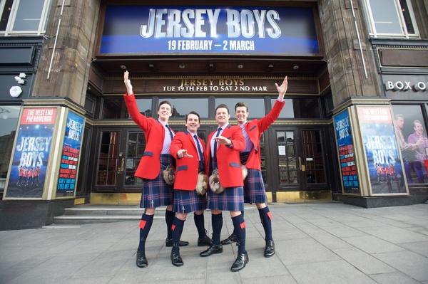 Photo Flash: UK and Ireland Touring Cast of JERSEY BOYS Walks Like a (Scots)Man!