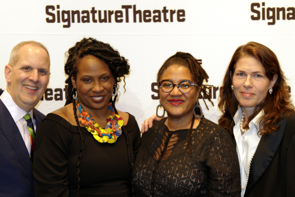 Harold Wolpert, Kamilah Forbes, Lynn Nottage and Paige Evans  Photo