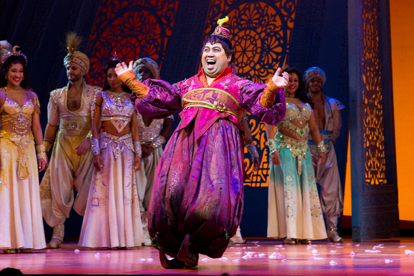 Photo Coverage: Ainsley Melham, Michael James Scott, and Mike Longo Join Cast of ALADDIN
