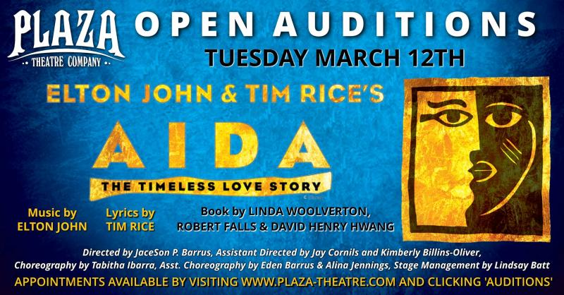 Auditions Announced for AIDA at Plaza Theatre Company
