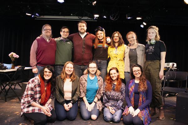 Pulp Vérté cast with playwright Crystal Skillman, dramaturg Dan Smith, director Photo