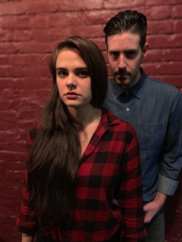 Mackenzie Menter as Miranda, Brendan Cataldo as Calvin. Photo