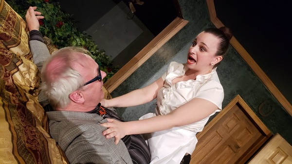 W. Richard Johnson as Mr. Oakfield, the lawyer and Audrey Robinson as Melody, the mai Photo
