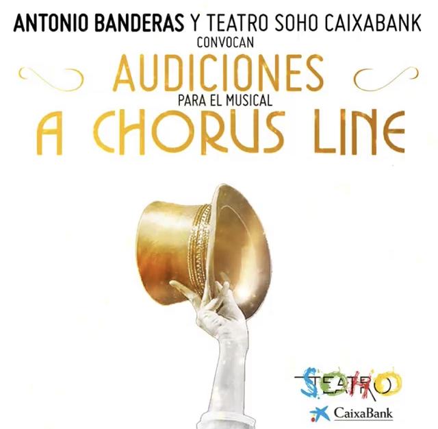 AUDICIONES: Antonio Banderas convoca casting para A CHORUS LINE