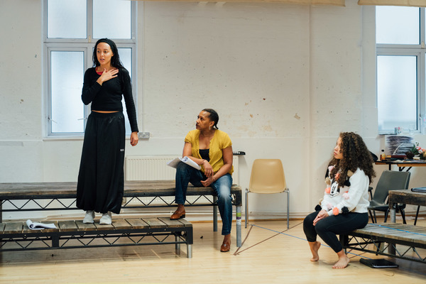 Photo Flash: In Rehearsal with EMILIA at the Vaudeville Theatre