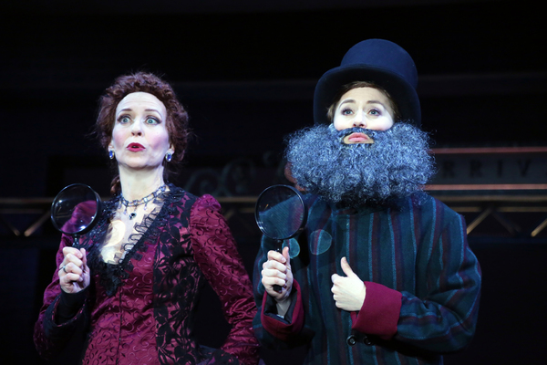 Kelly Lester (Angela Prysock/Princess Puffer) and Emily Ferranti (Edwin Drood