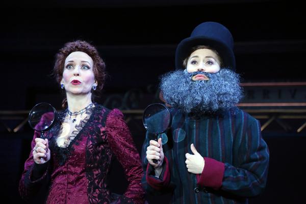 Kelly Lester (Angela Prysock/Princess Puffer) and Emily Ferranti (Edwin Drood Photo