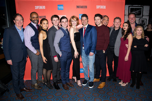 Photo Coverage: Kate Baldwin, Bryce Pinkham & More Celebrate Opening Night of SUPERHERO