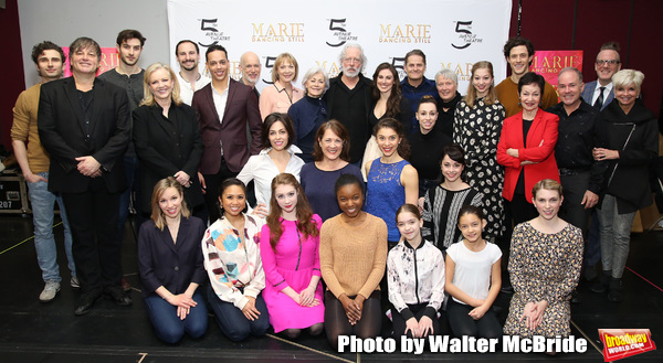 Tiler Peck, Terrence Mann, Louise Pitre, Karen Ziemba, Jenny Powers, Kyle Harris,  Dee Hoty, Chrisotpher Gurr and Noelle Hogan with the cast and creative team attend the Sneak Peek Presentation for 'Marie, Dancing Still - A New Musical'  at Church of Sain