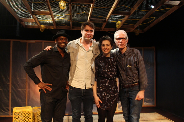 Patrick Ssenjovu, playwright Will Snider, Sarah Baskins  and director Kim T. Sharp