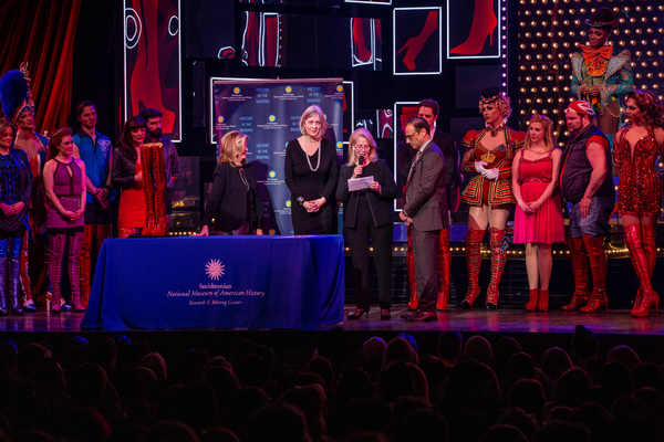 Abbe Raven, Anthea M. Hartig, Daryl Roth, Jerry Mitchell, and the Cast of KINKY BOOTS