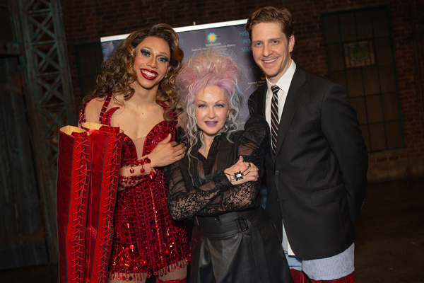 Callum Francis, Cyndi Lauper, and Andy Kelso
