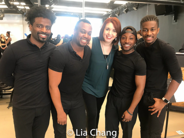 C.K. Edwards, Tommy Scrivens, Choreographer Kimberly Schafer, Wesley J. Barnes and Lamont Brown