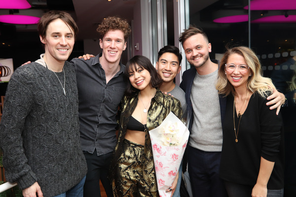 Reeve Carney, Leo Roberts, Eva Noblezada, Devin Ilaw, Jude Obermuller, and Claire Ort Photo