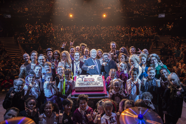 Craig Gallivan, Julian Fellowes, and Laurence Connor with the Cast of School of Rock Photo