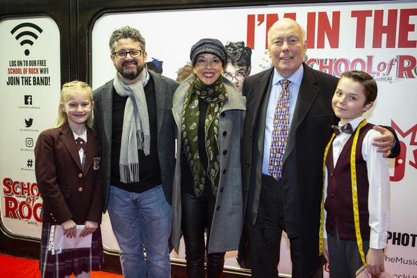 Nancy Hartley-Blake, Laurence Connor, Joann M. Hunter, Julian Fellowes, and Jakub Kop Photo