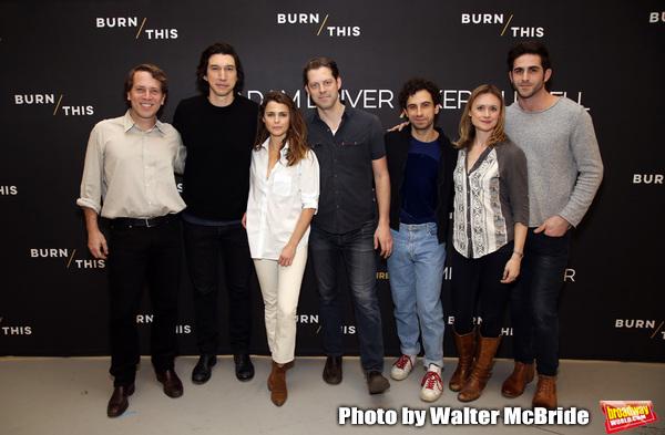 Jeremy Webb, Adam Driver, Keri Russell, David Furr, Brandon Uranowitz, Rebecca Brooks Photo