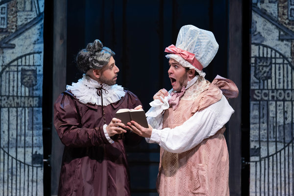Anthony Michael Lopez as Miss Pinkerton and Vincent Randazzo as Miss Jemima