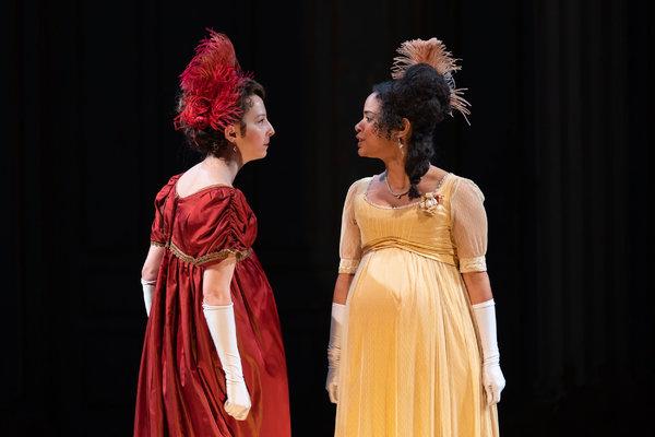 Rebekah Brockman as Becky Sharp and Maribel Martinez as Amelia Sedley Photo