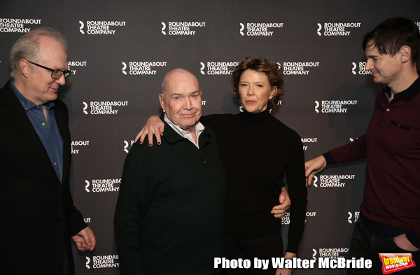 Tracy Letts, Jack O'Brien, Annette Bening and Benjamin Walker