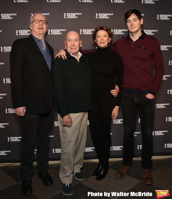 Tracy Letts, Jack O'Brien, Annette Bening and Benjamin Walker Photo