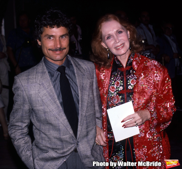 David Christian and Katherine Helmond attend a Broadway Show on May 2, 1982 in New York City.